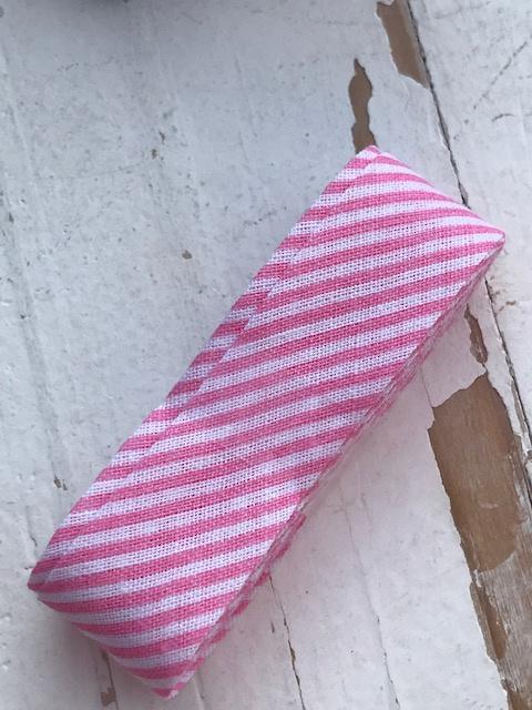 Biasband streep wit/licht roze (1234)