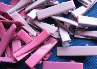 Alligator knip hot pink/roze 3 cm