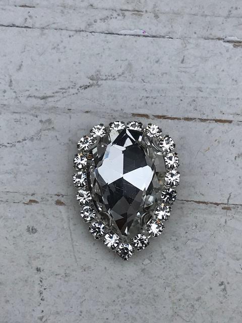 Flatback rhinestone druppel luxe kristal 2.5cm