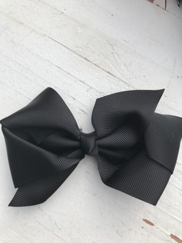 strik dubbel zwart groot