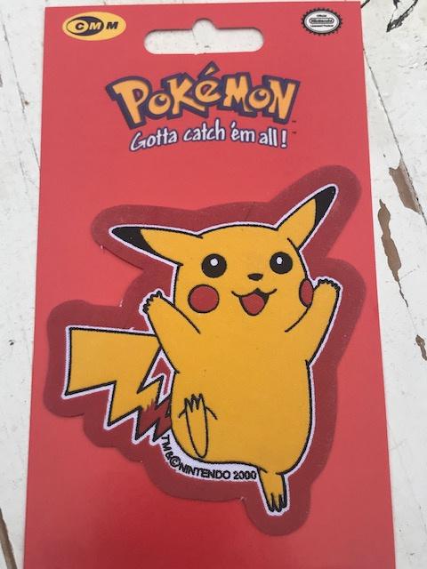 Pikachu Pokemon spring strijkapplicatie