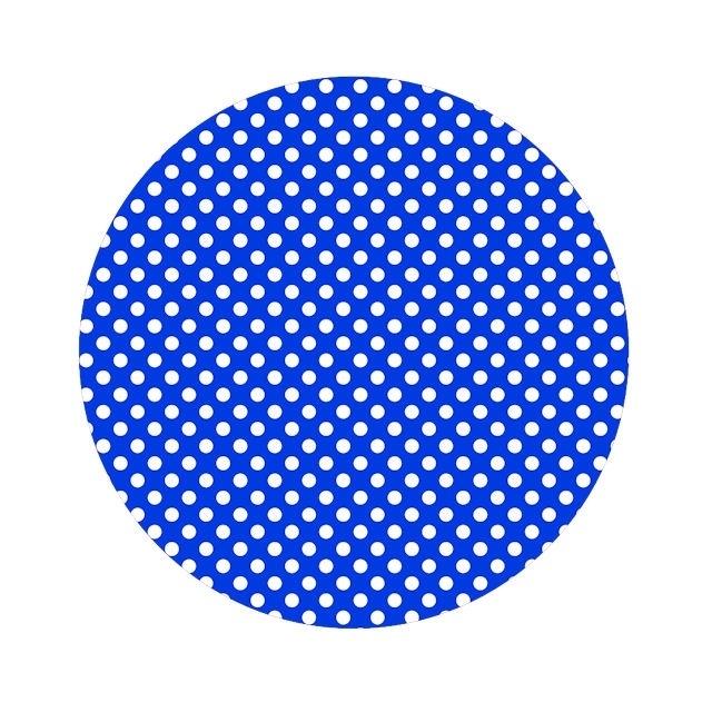 Polkadot royal blauw 50cm