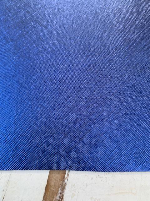 Leer metallic royal blue/kobalt
