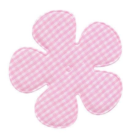 Geruite bloem 6,5cm licht roze