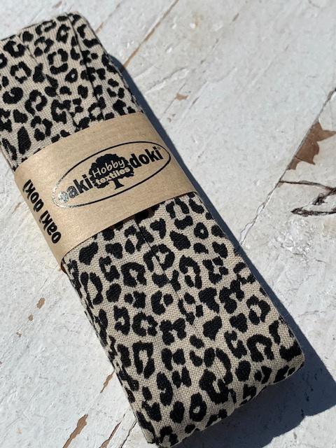 Biasband Tricot/Jersey panter/tijger zand