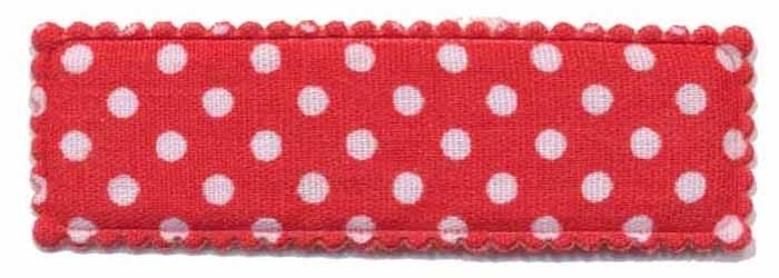 Kniphoesje rechthoekig stip rood