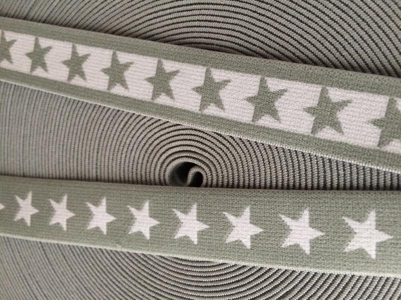 elastisch sterrenband grijs