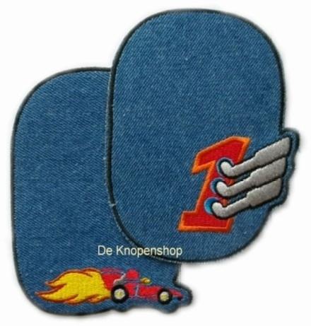 Kniestukken auto blauw (2st)