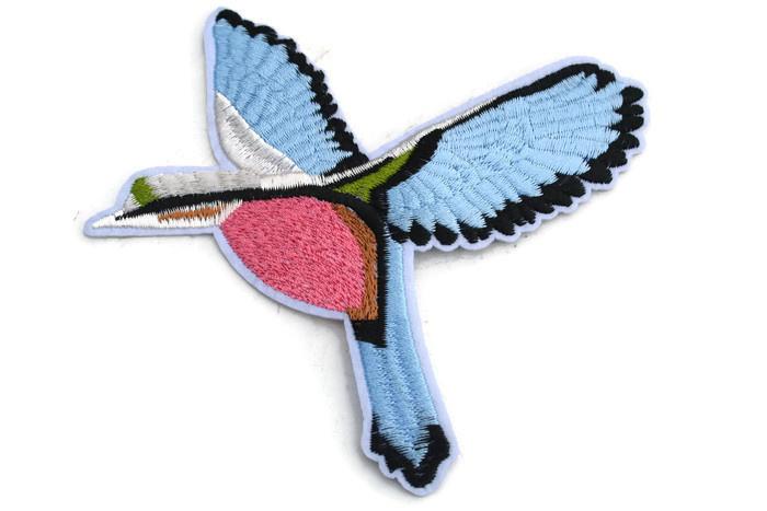 Opstrijkbare applicatie vliegende vogel