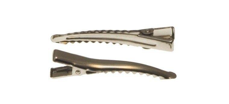 Alligator knip zilver 4.5 cm  ronde hoek