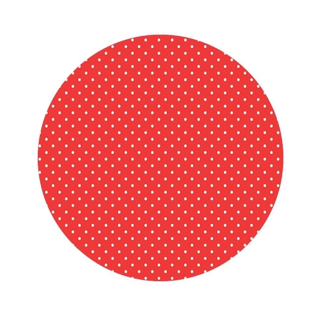 Polkadot mini stip baby rood 50cm