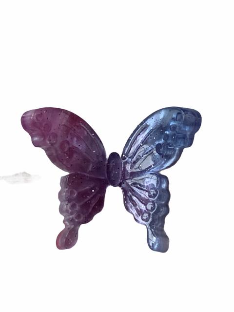 Flatback vlinder pastel lila-blue