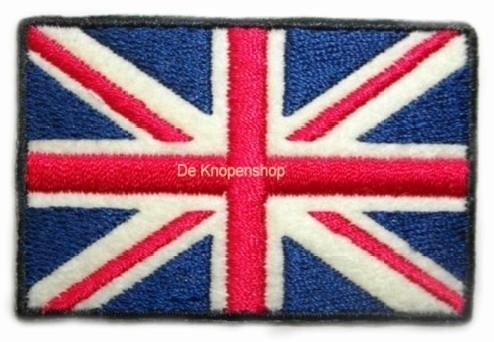 Opstrijk applicatie Engelse vlag recht