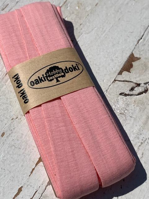 Biasband Tricot/Jersey roze