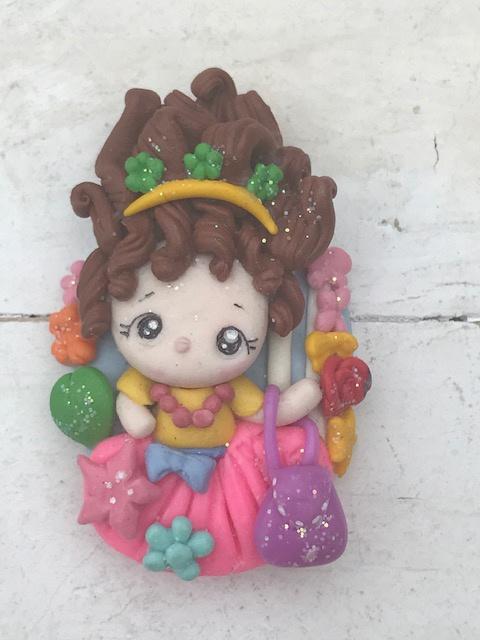 Fantasie girl fimo klei poppetje