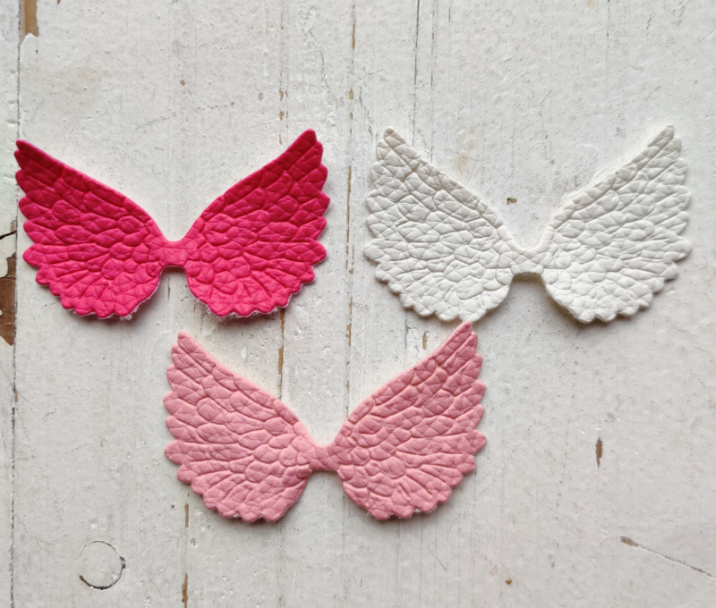 Vleugel 7,5cm leer kies jou kleur