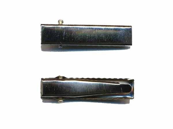 Alligator knip zilver 3.2cm