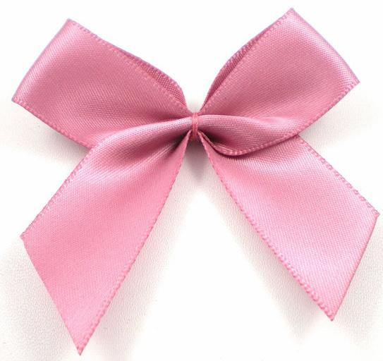 Strik satijn dusty pink/ oud roze 6.5cm