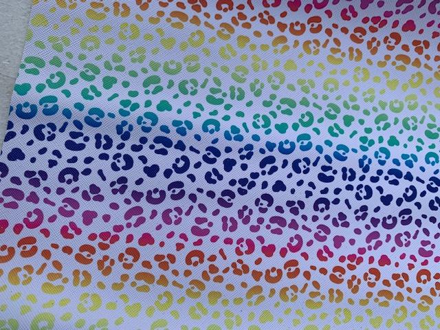 Leer regenboog panter/tijger pastel