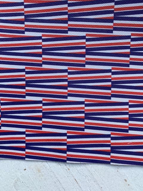 Leer streep blok rood-wit-blauw