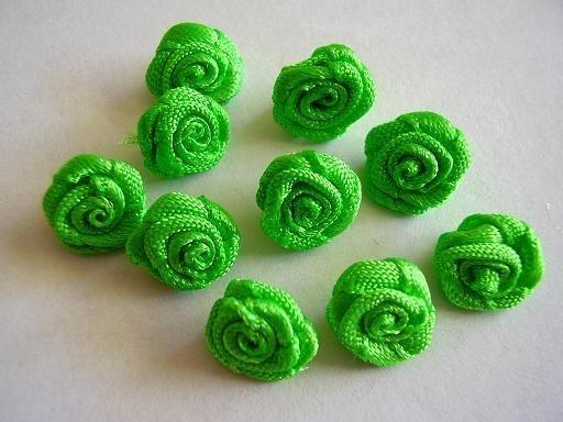 R010 Roosjes fel groen 1cm  (10)