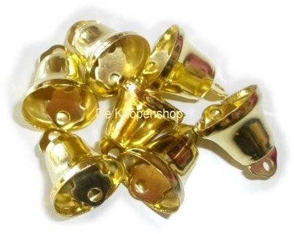 Gouden klokjes &klepel 1,5cm