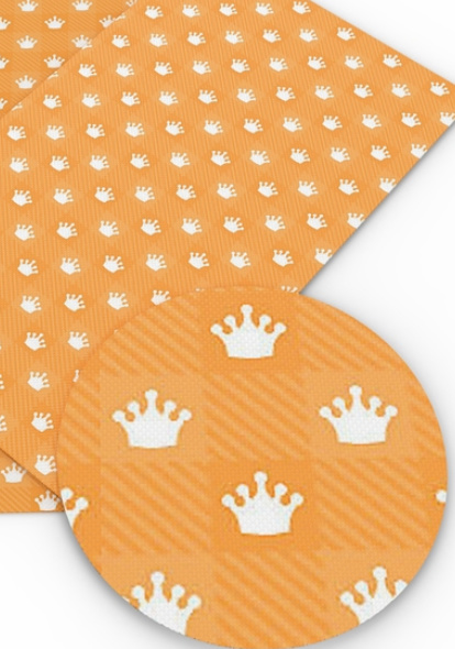 Leer oranje kroonjes wit