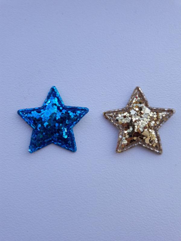 Ster grof glitter 3cm kies jou kleur.