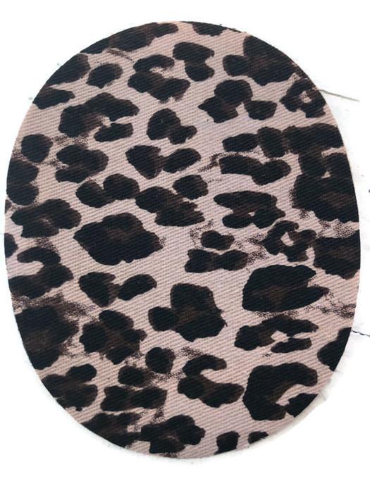 Kniestukken jeans panter/tijger print (2st)