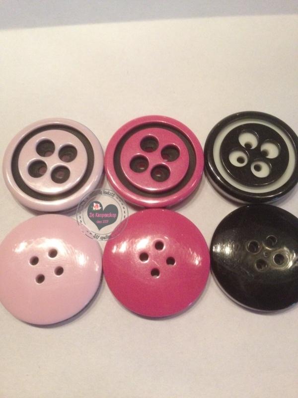 knoop Licht roze 2cm