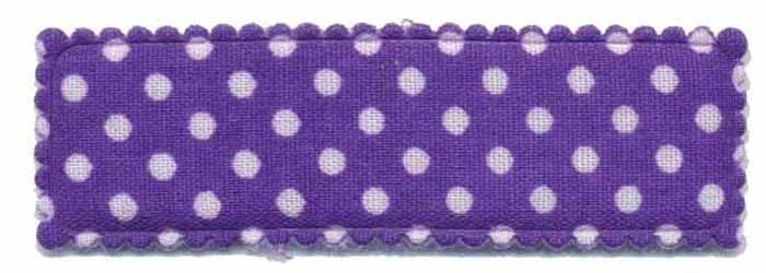 Kniphoesje rechthoekig stip paars