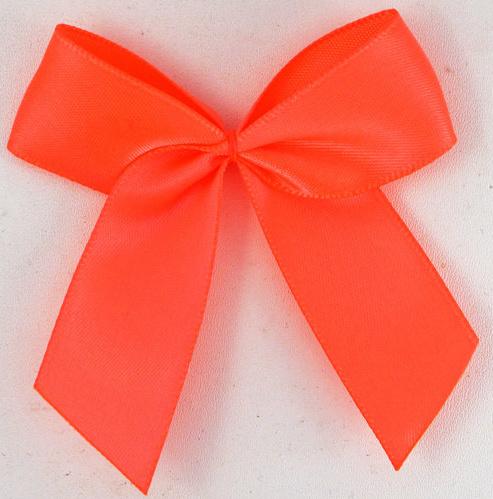 Strik satijn neon oranje 6.5cm