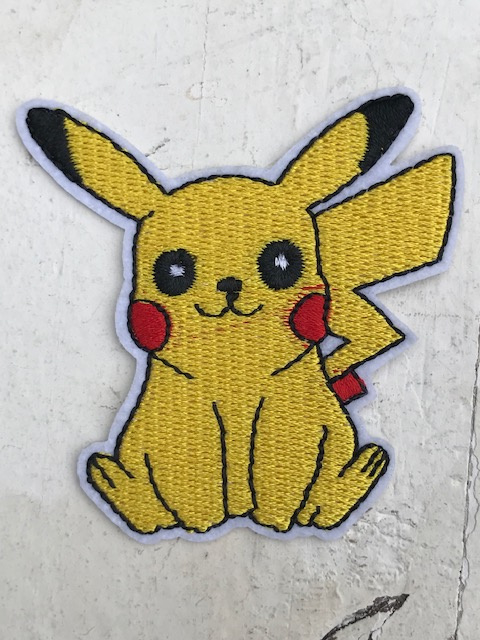 Pikachu Pokemon strijkapplicatie