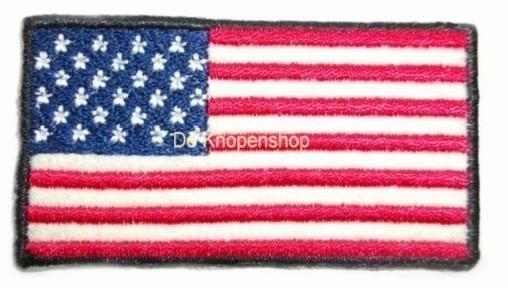Opstrijk applicatie Amerikaanse vlag recht