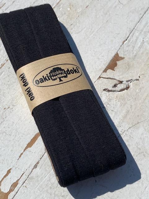 Biasband Tricot/Jersey zwart