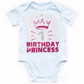 Baby shirt wit 'BIRTHDAY PRINCESS'