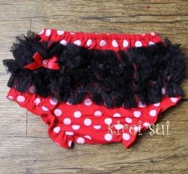 Luierbroekje/bloomer rood Minnie Mouse