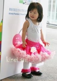 Pettiskirt legging wit/pink
