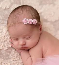 Haarband touw, roze