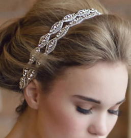Luxe Crystal dubbele haarband fijn