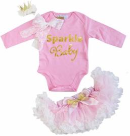 Sparkle Baby + haarclip kroon