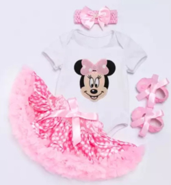 Minnie Mouse set roze  (4-delig)