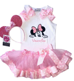 Minnie Mouse set + naam (3-delig)