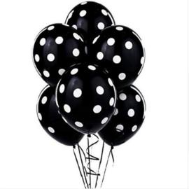 Minnie Mouse Balonnen ZWART - 4 stuks