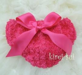 Luierbroekje romantische roosjes pink met strik