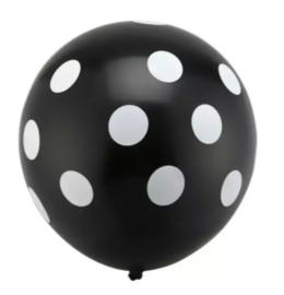 Minnie Mouse Ballon ZWART - 5 stuks