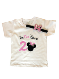 Minnie Mouse, I'm TwoDles! shirt + haarband