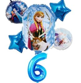Frozen Ballonset 6 jaar (6-delig)