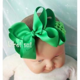 Haarband Groen strik
