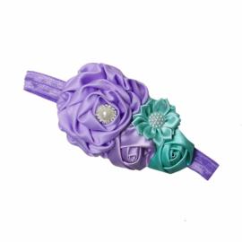 Haarband lavendel/groen